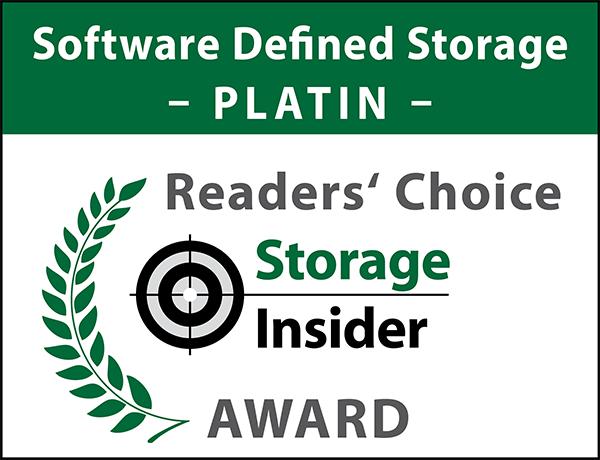 Reader's Choice - Storage Insider Award - Software-Defined Storage - PLATIN