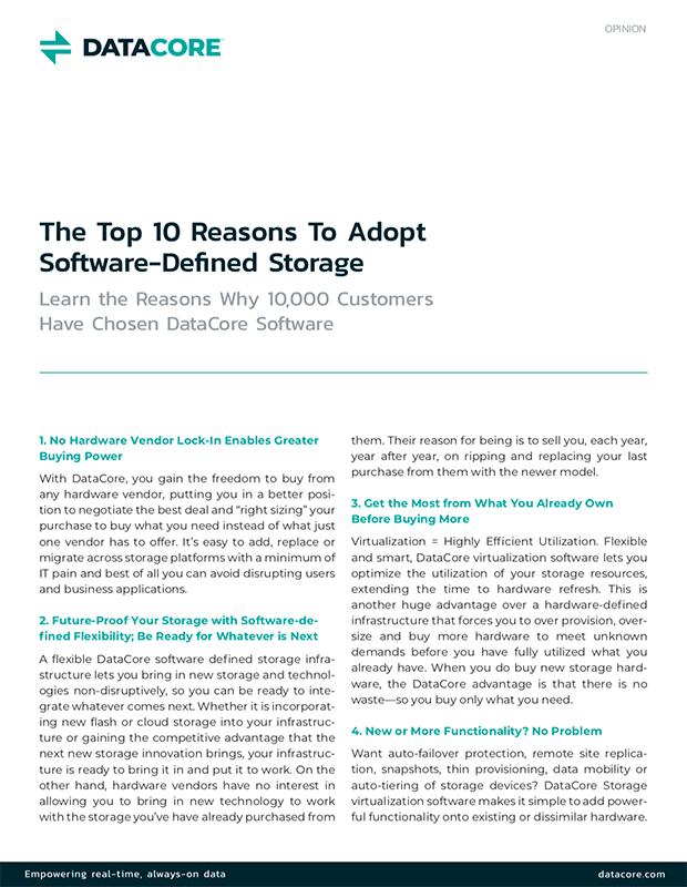 Top Ten Reasons to Adopt SDS