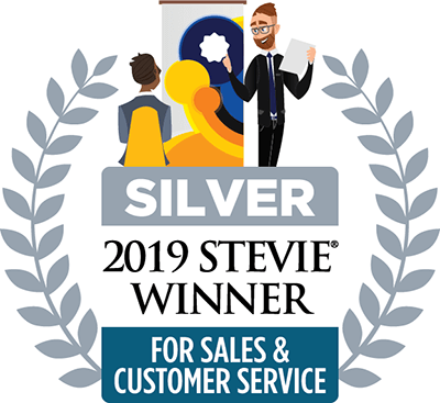 Silver 2019 Stevie Winner for Sales & Customer Service