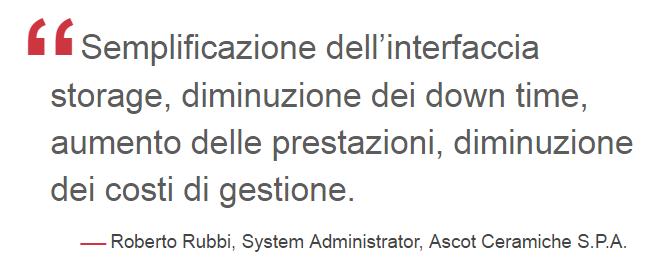 I clienti DataCore in Italia