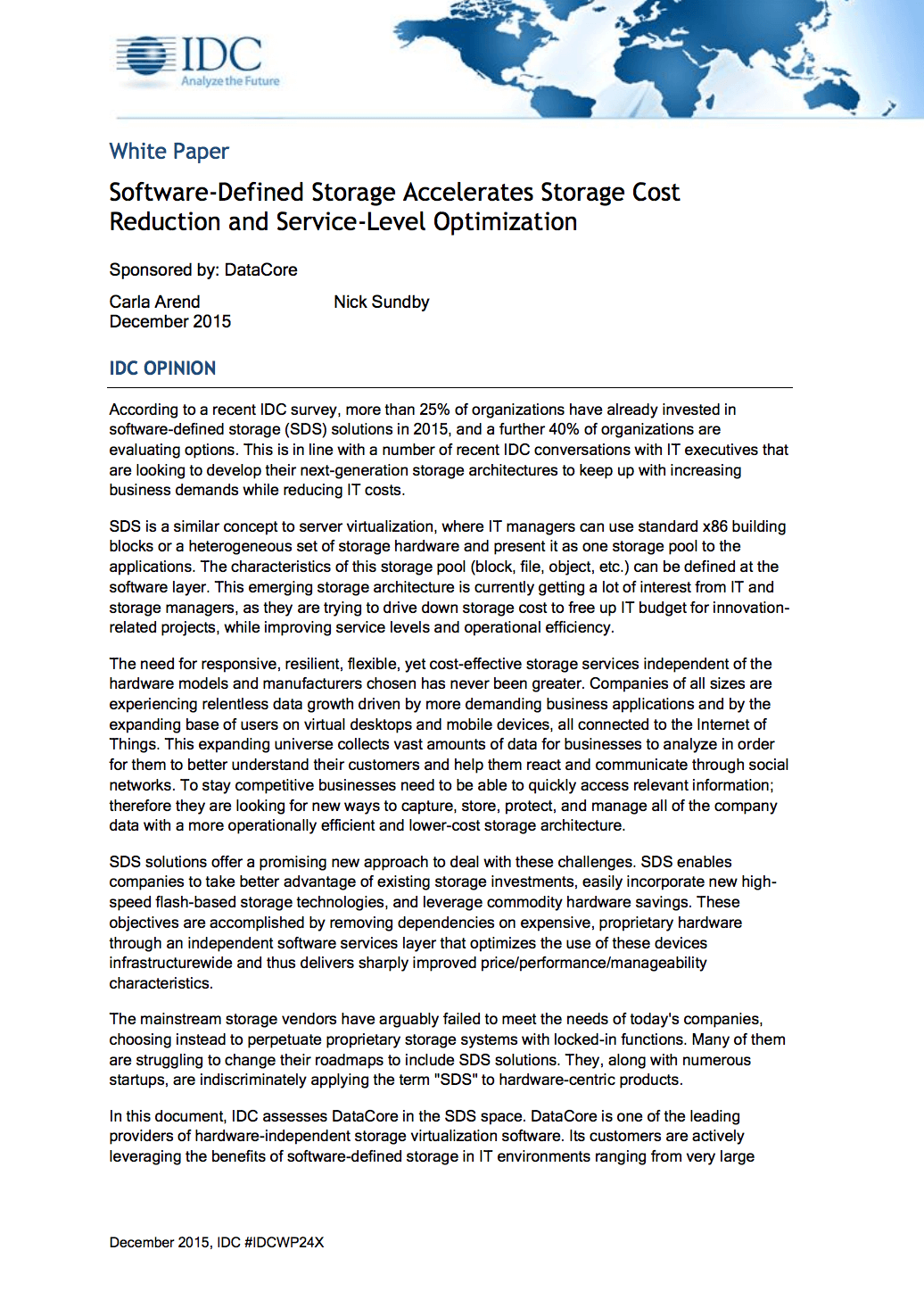SDS Accelerates Storage Cost Reduction and Service-level Optimization
