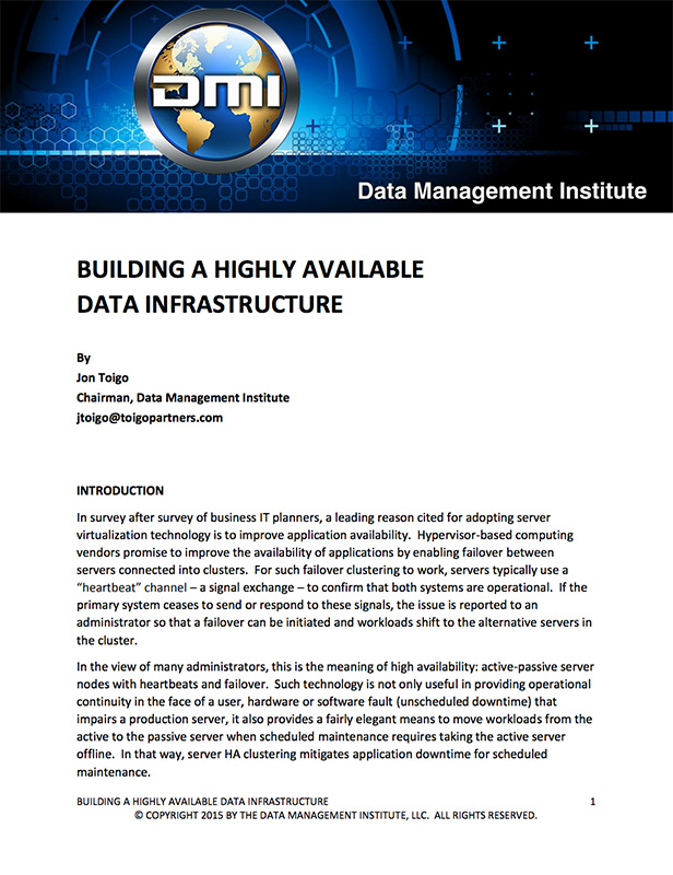 Building a Highly Available Data Infrastructure