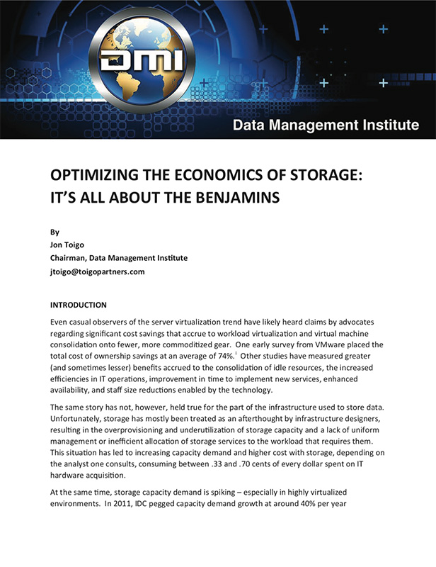 Optimizing the Economics of Storage