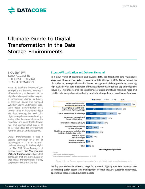 Ultimate Guide to Digital Transformation in Data Storage Environments