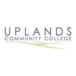 uplands community college logo case study