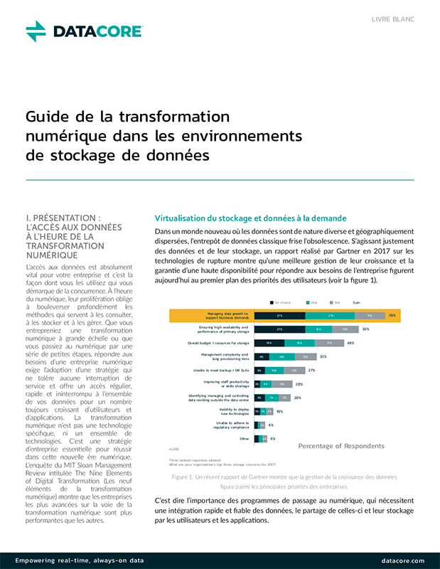 Guide de la transformation numérique dans les environnements de stockage de données
