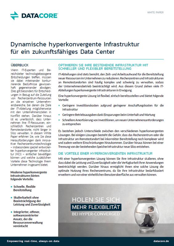 Dynamische hyperkonvergente Infrastruktur für ein zukunftsfähiges Data Center