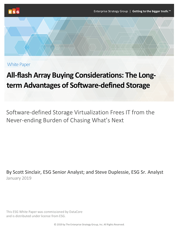 All-Flash Array Buying Considerations: The Long-Term Advantages of Software-Defined Storage
