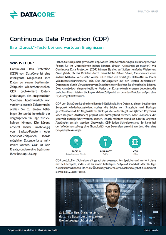 Continuous Data Protection (CDP)
