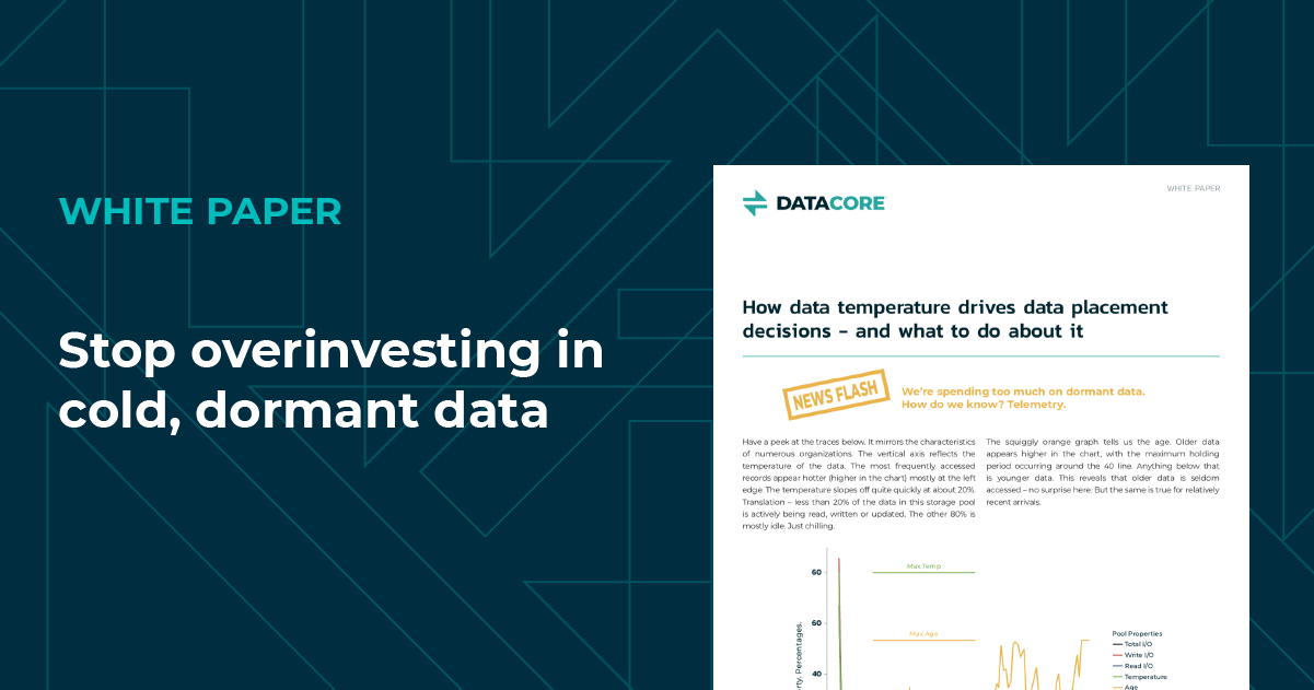 white paper: stop over-investing in cold, dormant data