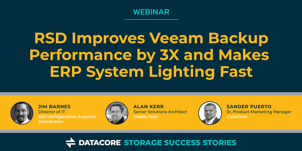 RSD Improves Veeam Backup Performance by 3X and Makes
