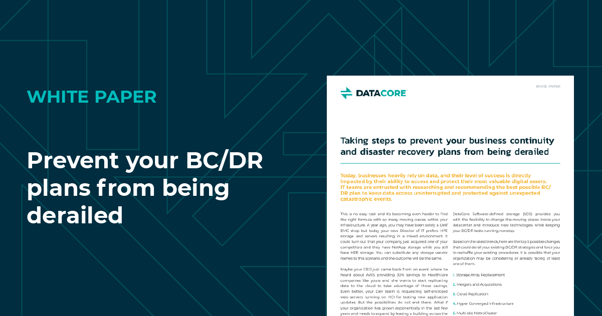 Prevent your BC/DR plans from being derailed