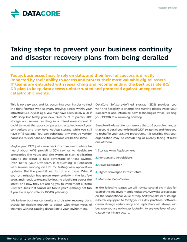 Taking Steps to Prevent Your Business Continuity and Disaster Recovery Plans from Being Derailed