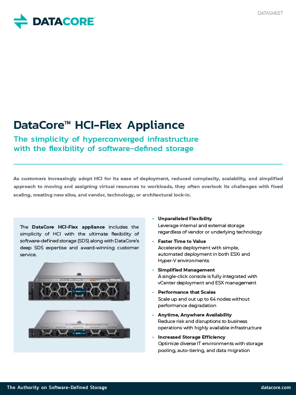 L'appliance DataCore HCI-Flex