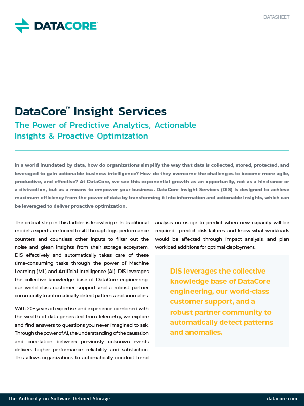 DataCore™ Insight Services
