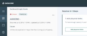 DIS predictive analytics screenshot