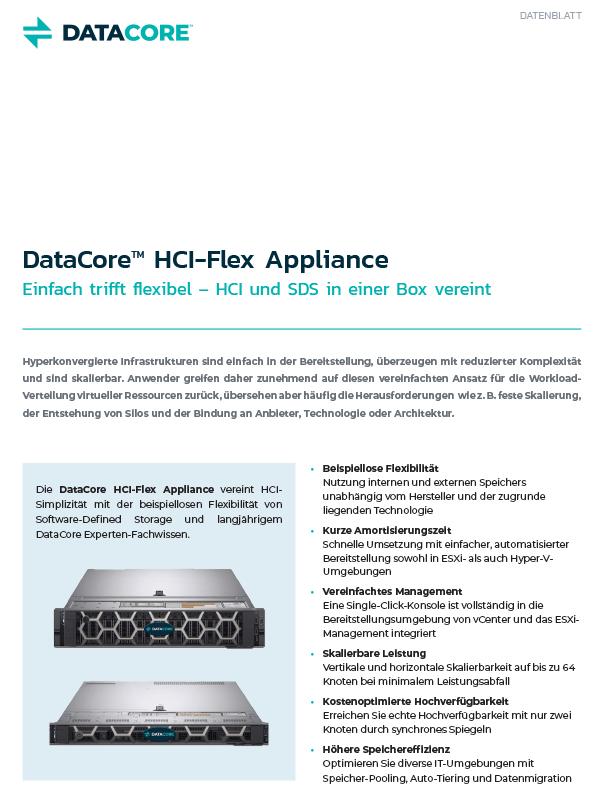 HCI Flex Appliance Einfach trifft flexibel – HCI und SDS in einer Box vereint