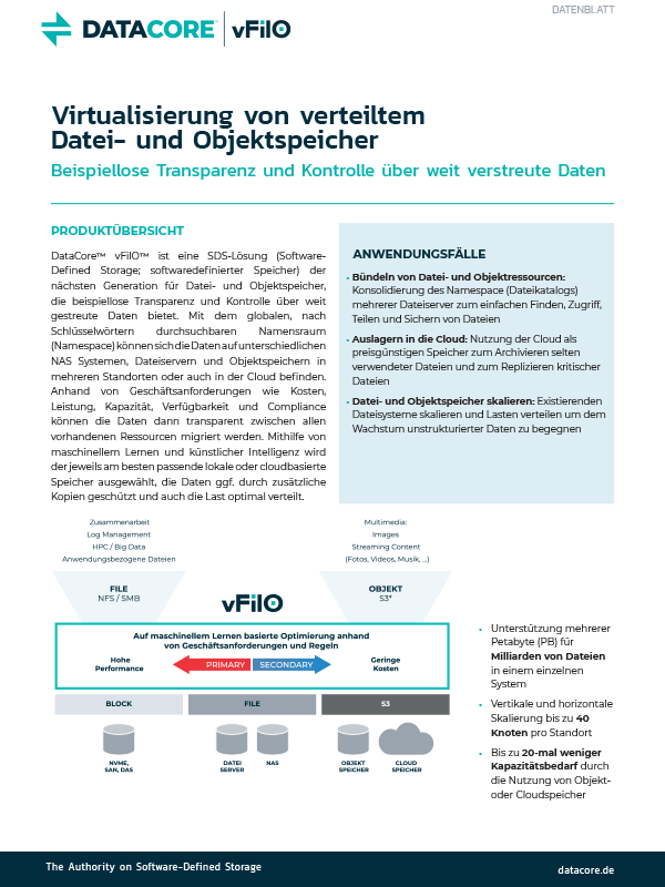 vFilO Datasheet German