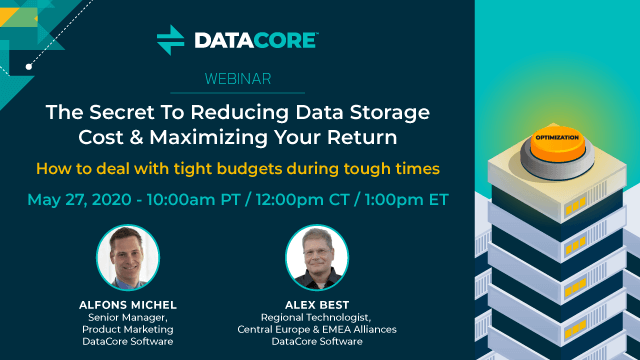 reduce data storage costs webinar