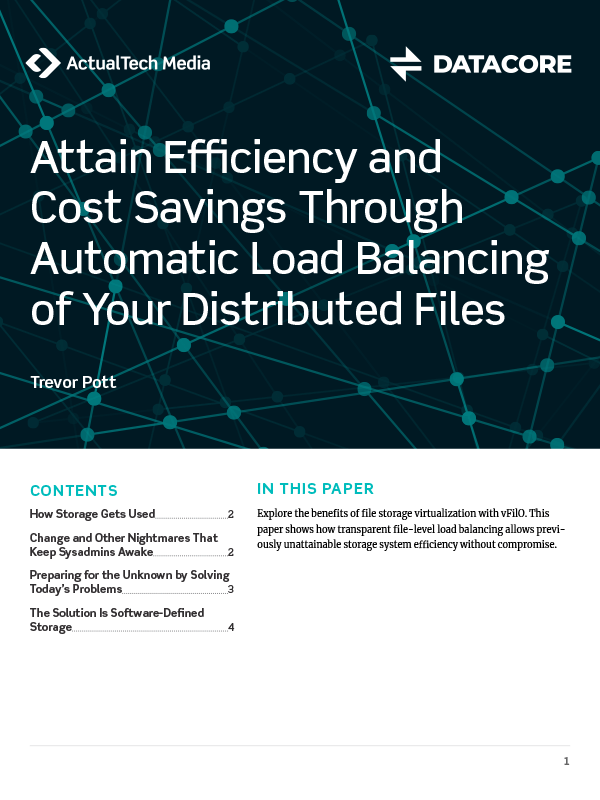 Attain Efficiency and Cost Savings Through Automatic Load Balancing of Your Distributed Files