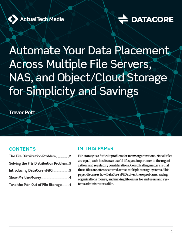 Automate Your Data Placement Across Multiple File Servers, NAS, and Object/Cloud Storage for Simplicity and Savings Thumb