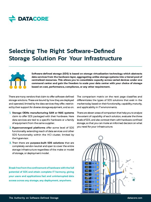 SDS Maturity Matrix