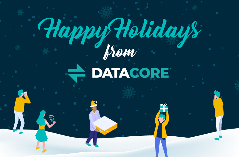 happy holidays from datacore software