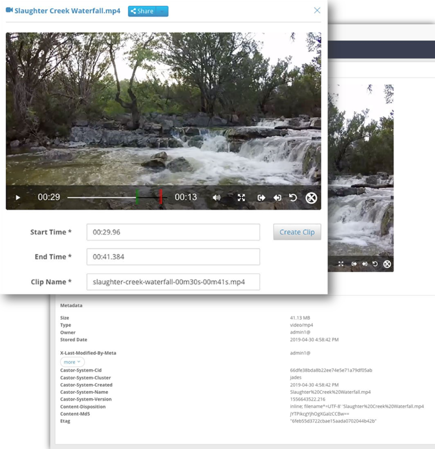 screenshot of swarm object-based data storage