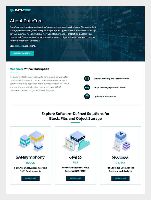 DataCore Partner iFrame Example