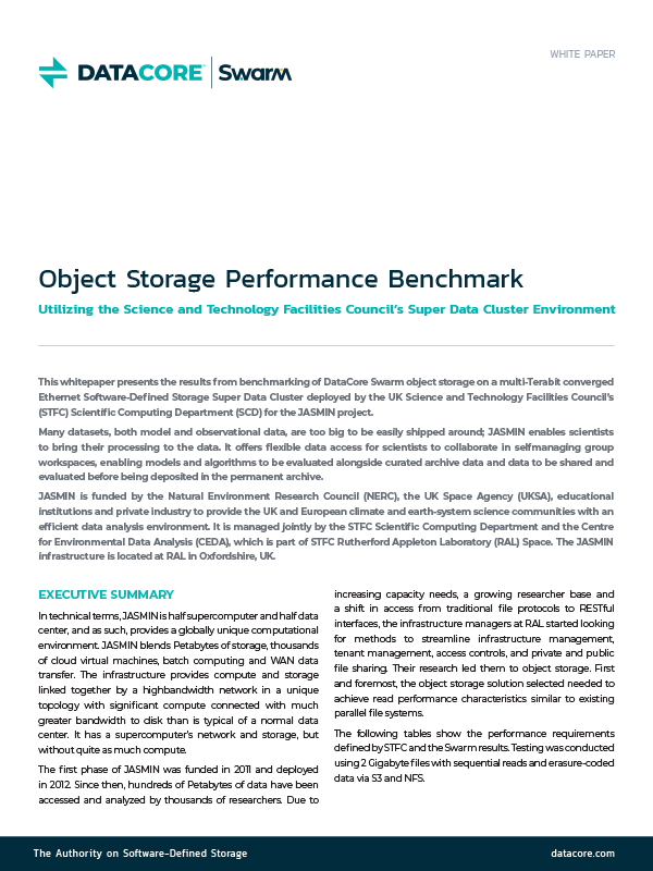Object Storage Performance Benchmark