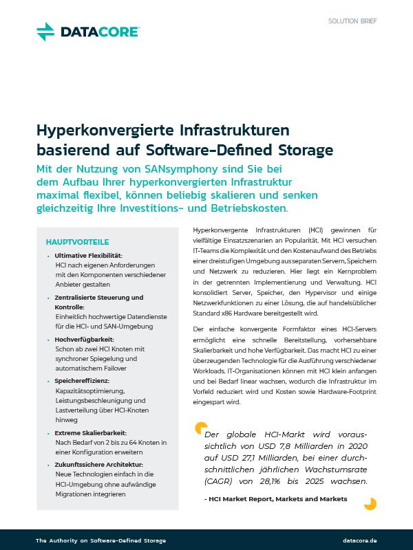 Hyperkonvergierte Infrastrukturen (HCI) basierend auf Software-Defined Storage