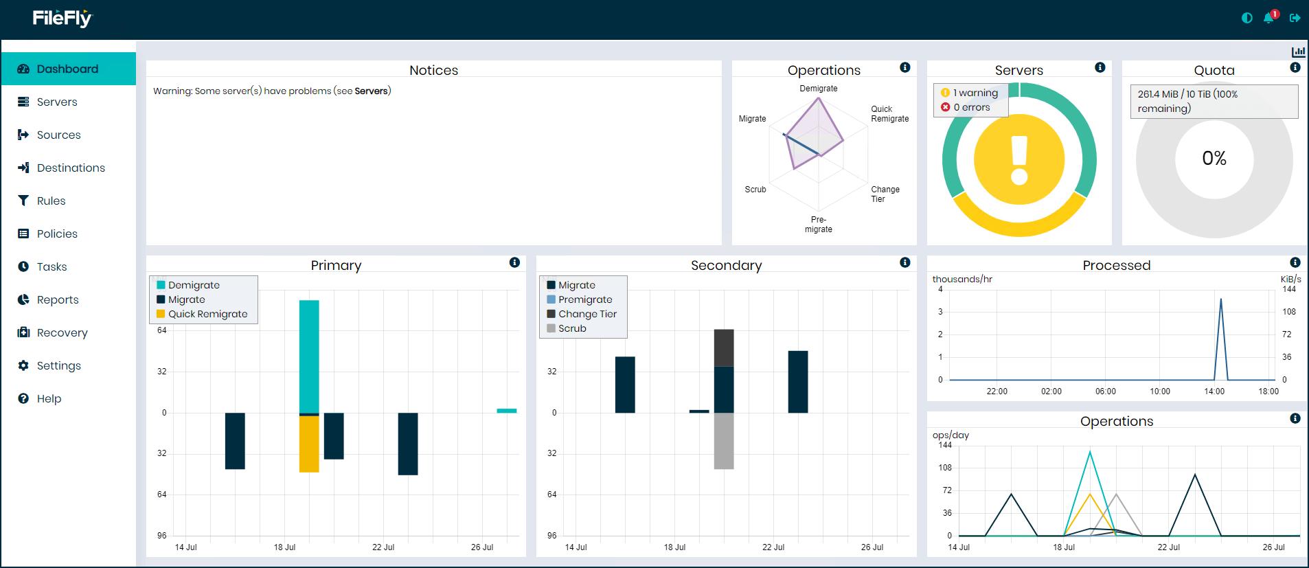 DataCore-FileFly-Management-Konsole
